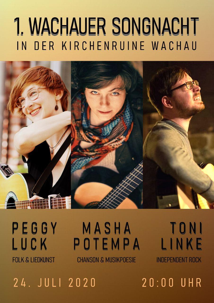 1. Wachauer Songnacht: Peggy Luck, Masha Potempa, Toni Linke @ Ruine Wachau